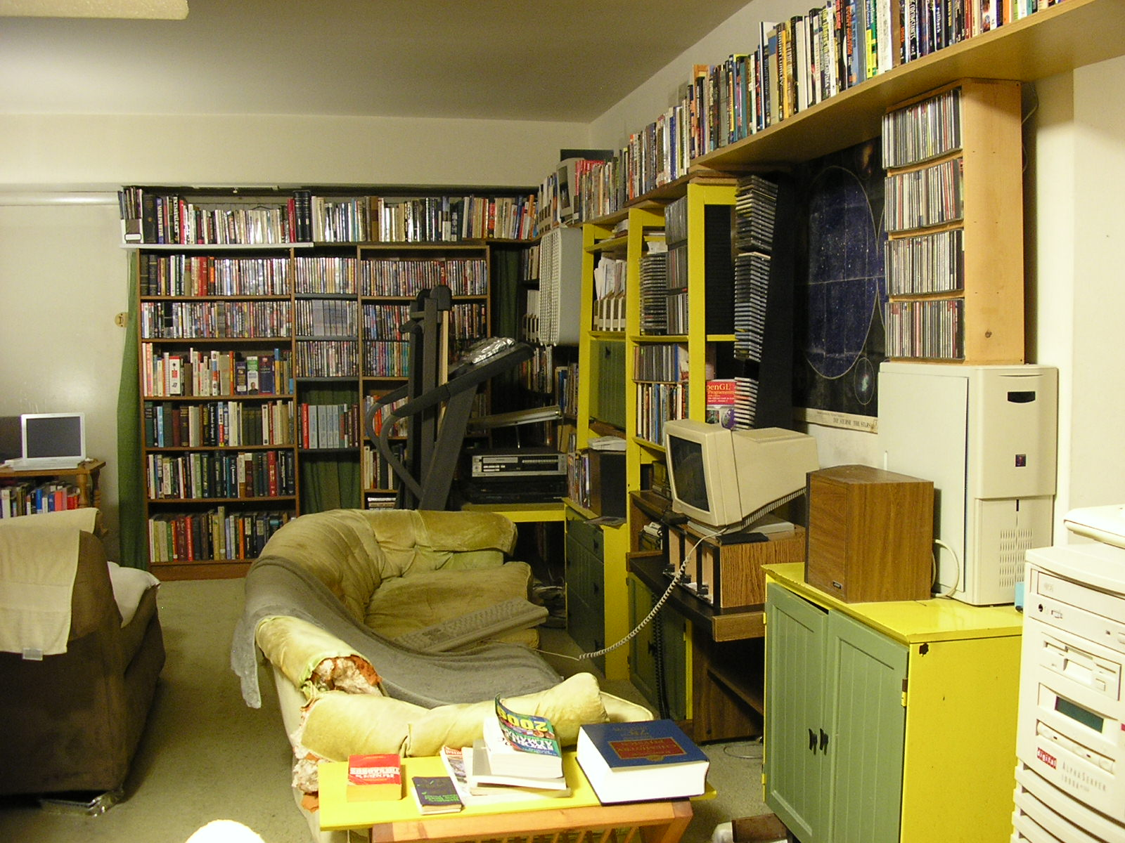 Here S How It Looks In 2009 There A Second Bookcase Front Of The Picture Window Plus Shelves Running Between Two Bookcases